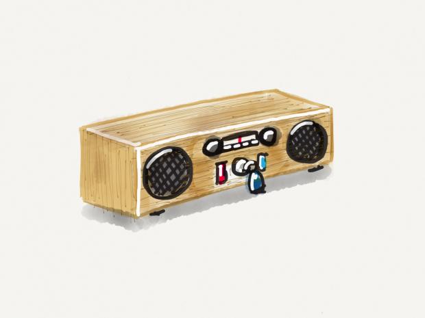 Simple radio sketch