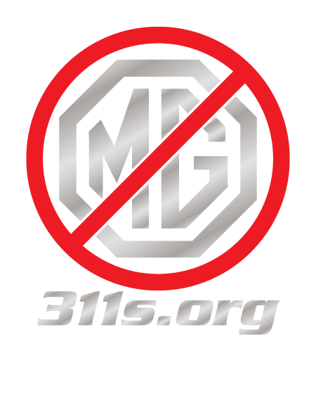 311s.org Not MG sticker Chrome